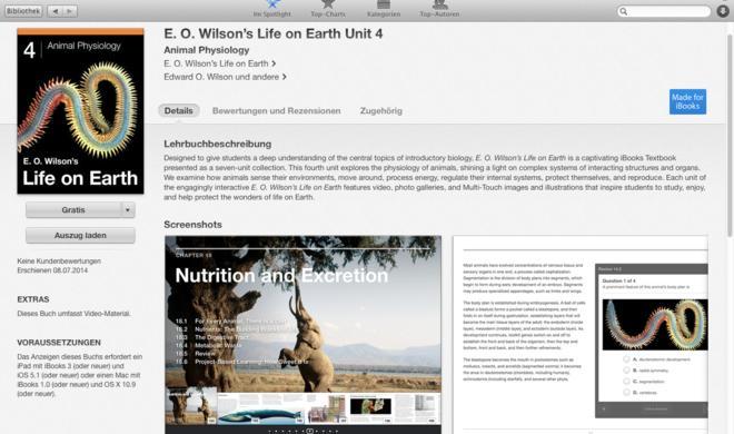 """Apple verschenkt Biologie-Buchreihe """"Life on Earth"""""""