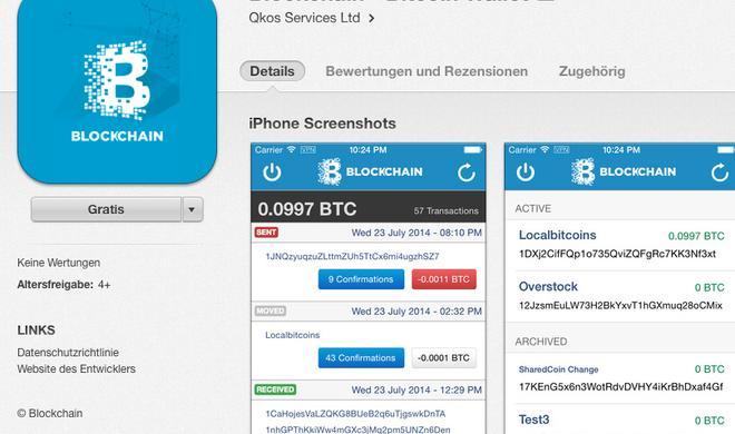 Blockchain Bitcoin-App kehrt in den App Store zurück
