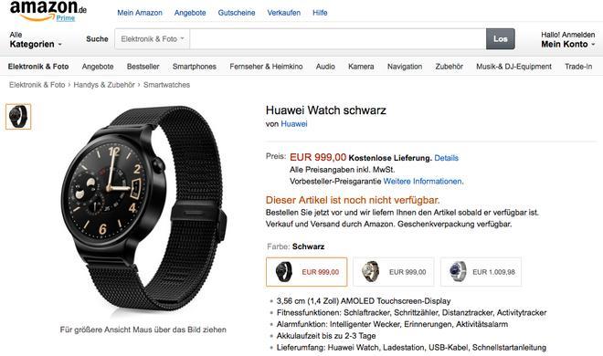 Huawei Watch kostet knapp 1.000 Euro - macht es Huawei der Apple Watch Edition nach?