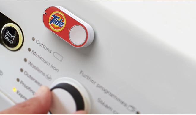 Amazon: Dash Button auf Wasch- oder Kaffeemaschine macht Bestellungen so einfach wie nie zuvor