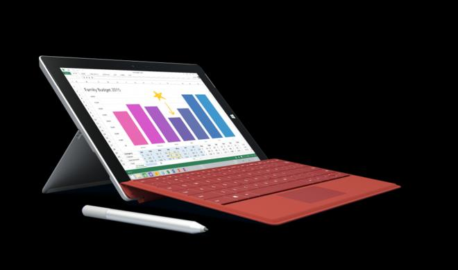 Microsoft stellt Surface 3 mit vollständigem Windows 8.1 vor: Direkter Konkurrent zu Apples MacBook Air?