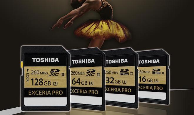 Exceria Pro SD-Speicherkarten von Toshiba für 4K-Video kommen nach Europa