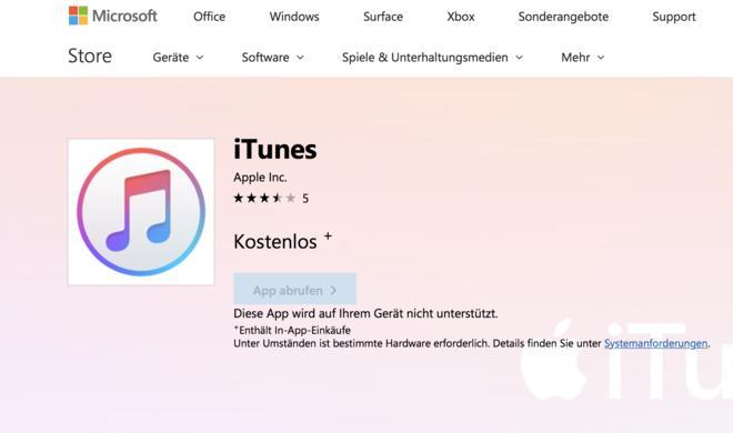 iTunes ist ab sofort im Windows 10 Store verfügbar