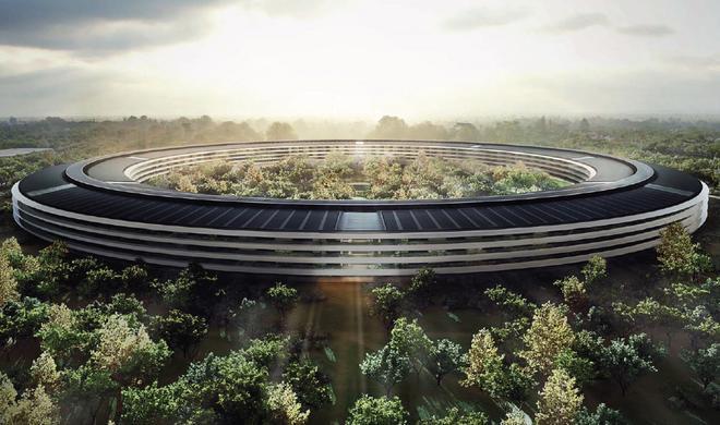 Drohnen-Video zeigt Apples neuen Raumschiff-Campus von oben
