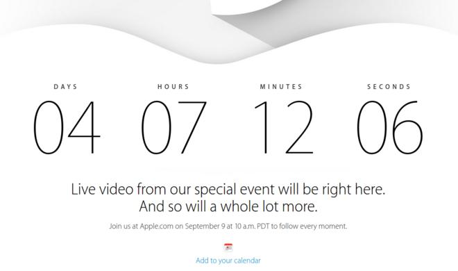 iPhone 6: Apple stellt Live-Stream-Website für das Event am 9. September online