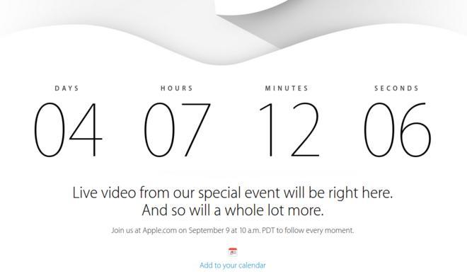 iPhone 6: Apple stellt Live-Stream-Website für das Event am 9. September online