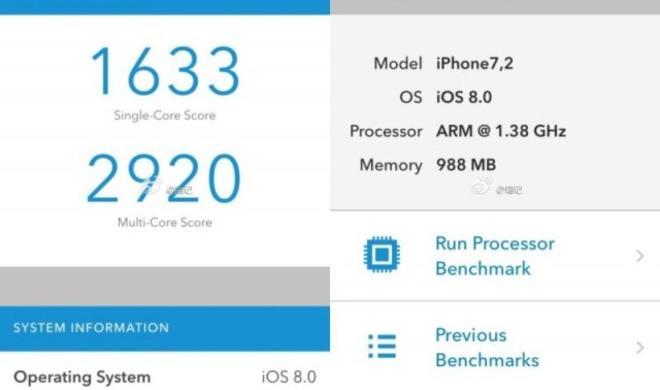 Mutmaßliche iPhone-6-Benchmarks zeigen: 1,38 GHz A8-Prozessor nur geringfügig besser