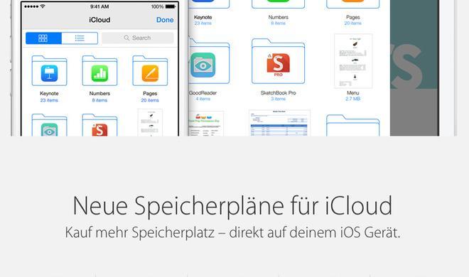 iCloud Drive: Apple senkt Preise für seinen Cloud-Dienst - Preisattacke auf Dropbox & Co.