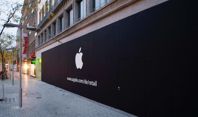Apple eröffnet 14. Retail-Store in Hannover: Fotos vom enthüllten Logo
