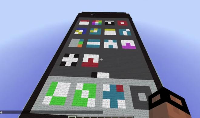 "Minecraft: Spieler baut ""funktionierendes"" iPhone"