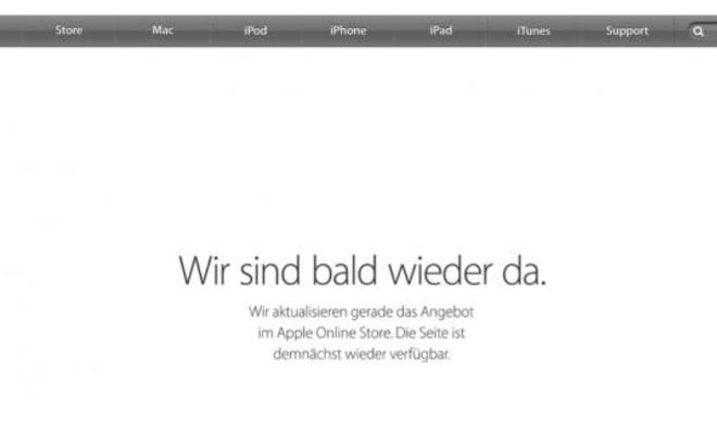 [Update] Apple Online-Store schon wieder offline: Kommt noch etwas besonderes nach?