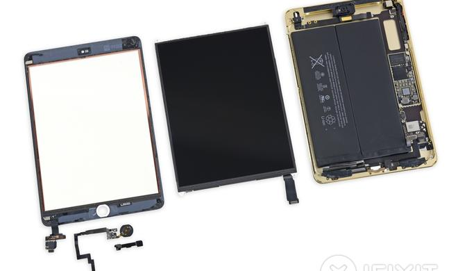 Heißkleber im iPad mini 3 gefunden