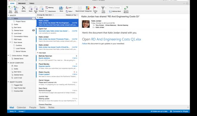 Neues Outlook für OS X ist da - komplette Office-Suite kommt später