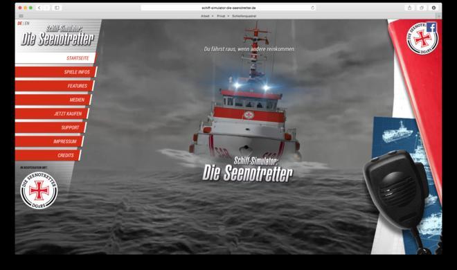 Mac-Spiele: Seenotretter-Simulator – durch peitschenden Sturm und meterhohe Wellen
