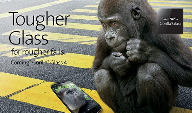 Corning bringt Gorilla Glass 4 heraus – hart, härter, Gorilla Glass