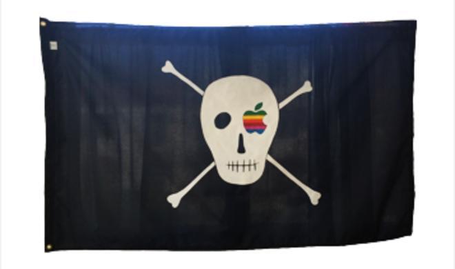 Macintosh-Piratenflagge: Ein Kunstwerk in Susan Kares Online-Store