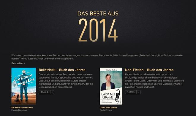 iTunes: Die besten Bücher aus 2014