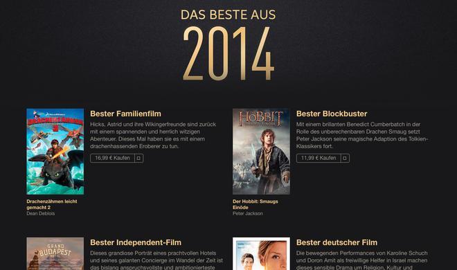 iTunes: Die besten Filme aus 2014