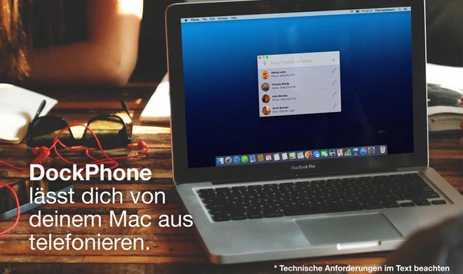 DockPhone ermöglicht Telefonate vom Mac aus