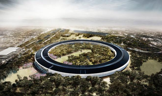 Drohnenflug über Apple Campus 2 zeigt Fortschritte