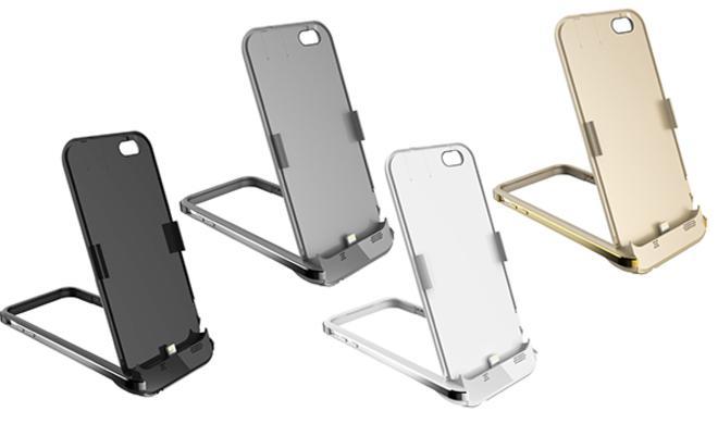 Hülle für iPhone 6 mit Akku und Ausklappständer