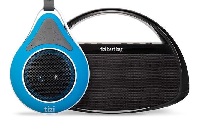 tizi dusch'n'dance und tizi beat bag: Wasserdichte und tragbare Funklautsprecher zum rabattierten Einführungspreis