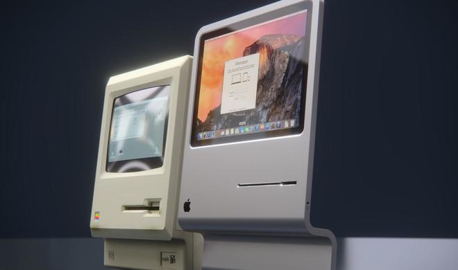 Macintosh 2015: Mock-Up vereint Nostalgie und moderne Technik