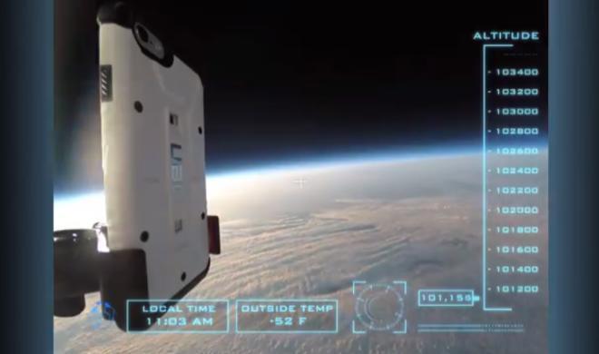 iPhone 6 auf Weltraumabenteuer-Tour: Apple-Smartphone hat Fall aus Stratosphäre unversehrt überstanden