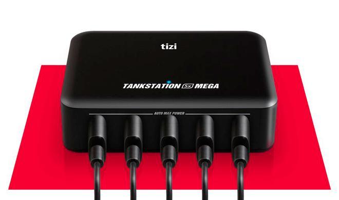 tizi Tankstation: Fünf USB-Geräte in Turbo-Geschwindigkeit aufladen