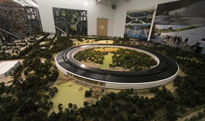 Apples Design-Team entwarf Gebäudeteile für Apple Campus 2: Eigens errichtete Fabrik stellt Bauteile dafür her
