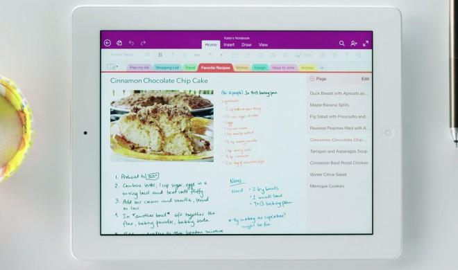 OneNote für das iPad: Microsoft fügt OCR und Handschrift hinzu