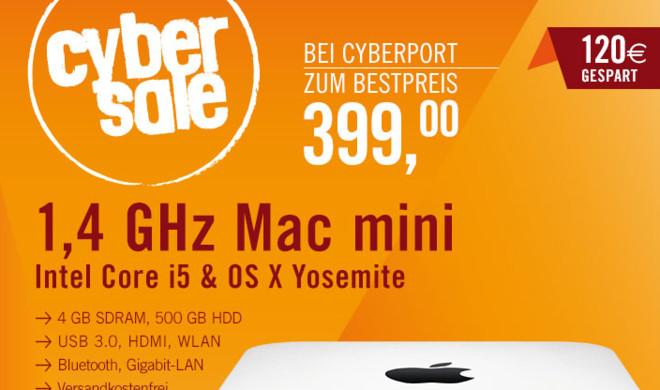 200 Mac minis für nur 399 Euro bei Cyberport: Ersparnis von 24 Prozent – nur solange der Vorrat reicht