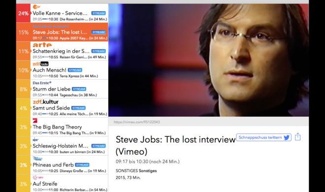 Steve Jobs 60. Geburtstag: equinux zeigt die Highlights im Leben des Kult-Managers über Live TV-App