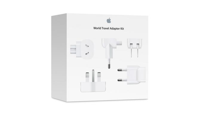 iPhone, iPad & MacBook.: Apple Reise-Adapter-Kit enthält nun 7 Adapter für Netzstecker in aller Welt - vorher waren es nur 6