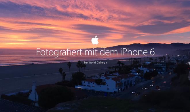 iPhone-6-Fotos: Apple weitet Kampagne auf Poster und Zeitschriften aus - Antwort auf Galaxy S6 und Galaxy S6 Edge