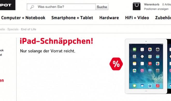 iPads und MacBook Pro 15 Zoll zum Rabattpreis bei Comspot: Ersparnis von bis zu 40 Prozent - nur so lange der Vorrat reicht