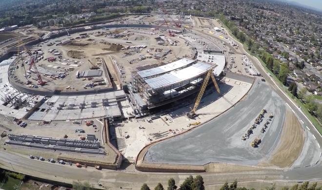 Apple Campus 2 - die Dacharbeiten beginnen bald