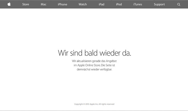 Apple Online Store bereits offline: Deutet dies auf neue MacBooks hin?