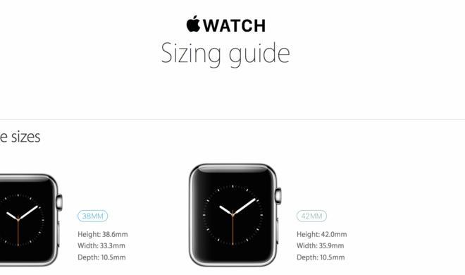 Apple Watch: Apple veröffentlicht Größen-Guide für seine Smartwatch