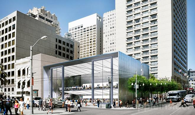 Apple baut neuen Flaggschiff-Store in San Francisco: Vorzeige-Store aus Glas und Stahl