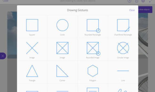 Adobe bringt Comp CC als App für iPad: Formen, Text-Boxen und Platzhalter für Bilder per Wischgesten gestalten