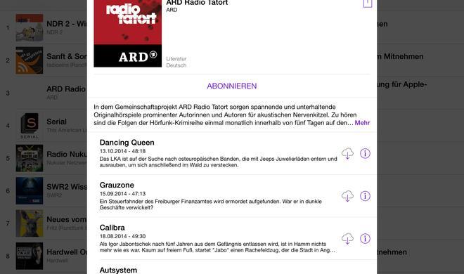 iPad: Podcasts finden und abonnieren