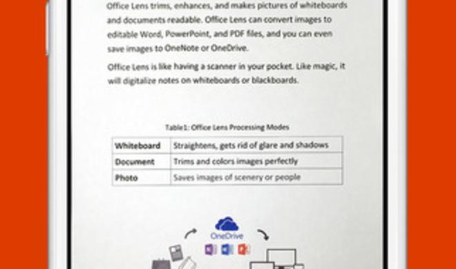 Microsoft  Office Lens als genialer Fotokopierer für iOS