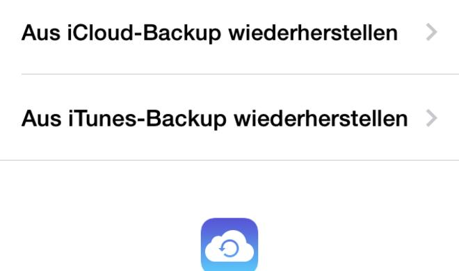 iPhone: Backup übernehmen