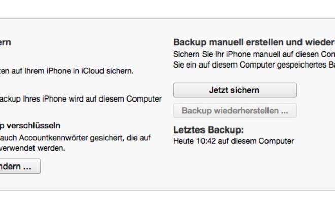 iPhone: Backup in der iCloud oder auf der Festplatte erstellen