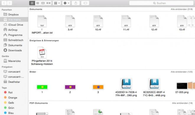 OS X Yosemite: Ordner anlegen