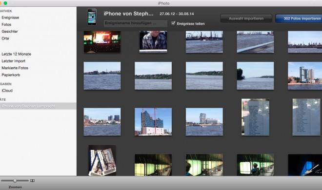 OS X Yosemite: iPhone-Fotos importieren