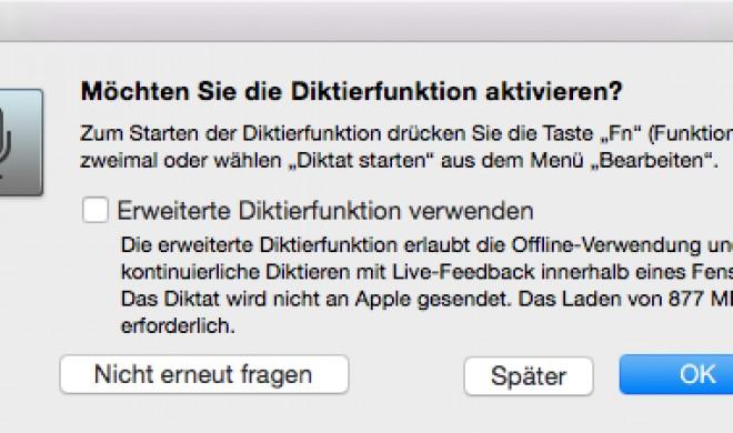 OS X Yosemite: Diktierfunktion nutzen und Texte am Mac diktieren