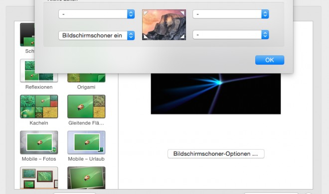 OS X Yosemite: Mac sperren und Passwort einrichten
