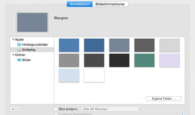 OS X Yosemite: Wallpaper und Bildschirmschoner ändern